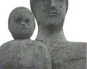 Matka s dieťaťom - hlavy