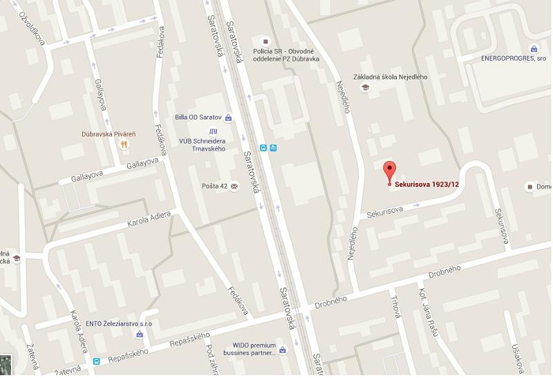 Mapa - kde sa nachádza miestna knižnica