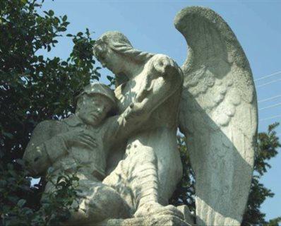 Pomník padlým detail