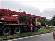 Zvýšený pohyb nákladných vozidiel v lokalite Na vrátkach